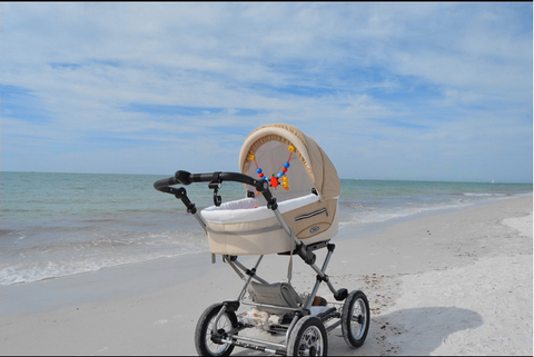 ROAN Kortina Pram Stroller with bassinet, reversible seat and inflated big wheels