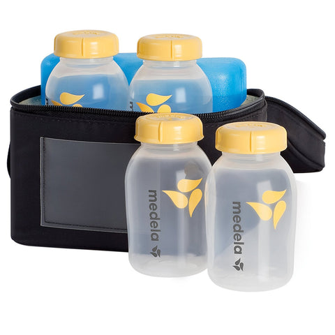 Medela Breastmilk Cooler Set  Breast Pump Breastfeeding Baby