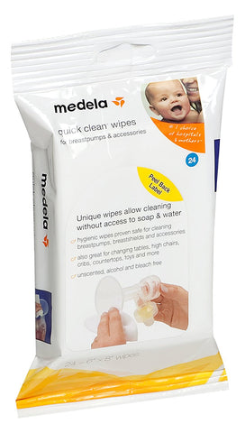 Medela Quick Clean Breast Pump and Accessory Wipes BreastPump