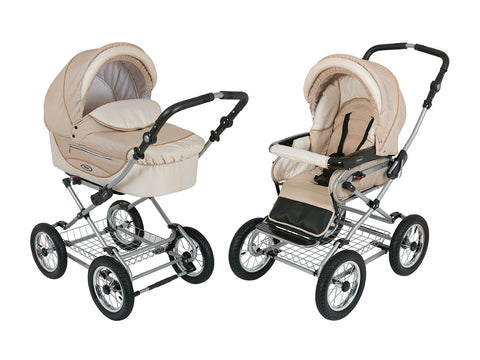 Sand-Beach Stroller Pram with Bassinet Buggy