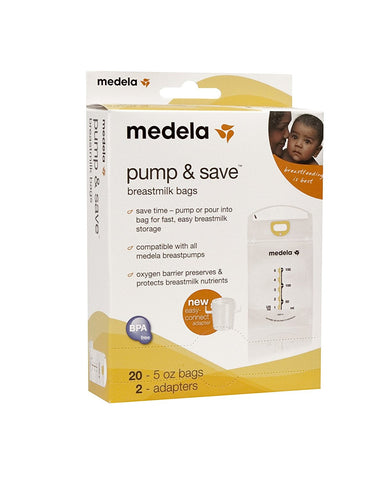 Medela Pump and Save Breastmilk Bags Breastfeeding Baby
