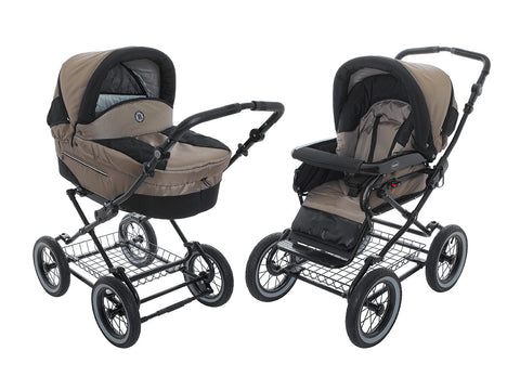 Coffee Stroller Pram with Bassinet Buggy