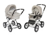 Natural_Tan Stroller Pram with Bassinet Buggy
