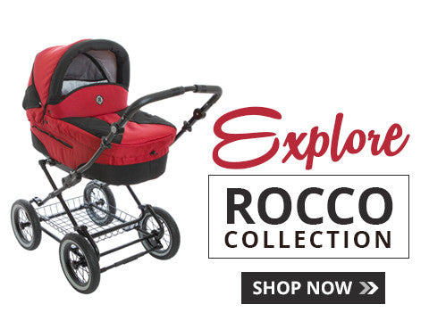Red Rocco Classic Pram Strollers With Bassinet