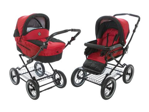 Bass Stroller with Bassinet and swivel wheels