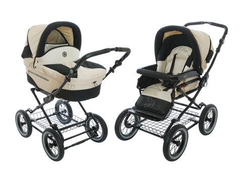 Baby Stroller Pram with Bassinet Rocco - Pearl