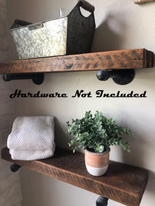 2x4 Barn Wood Shelf Planks