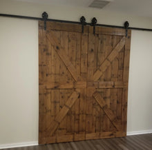 Load image into Gallery viewer, Antique Pine Sliding Barnwood Doors