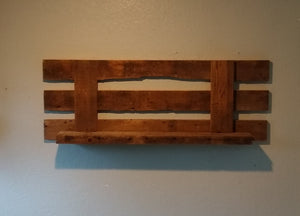 "Tail Gate Style 42"" Barnwood Shelf"