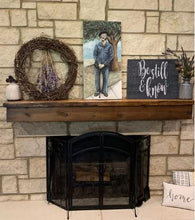 Load image into Gallery viewer, Floating Barnwood Mantel Shelf (6x8/8x10)