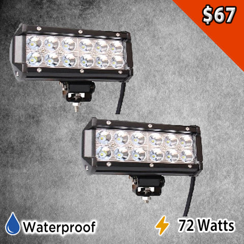 "Two 7"" Led Light Bars"
