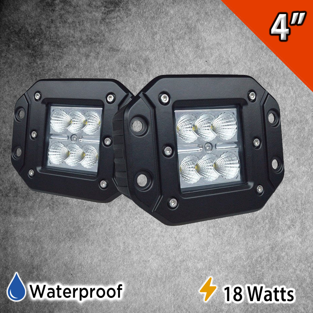 18 Watt LED Flush Pods Set of Two