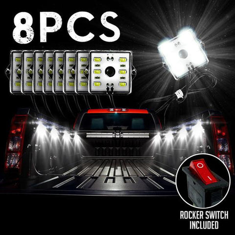 8PC Truck Bed LED Lights