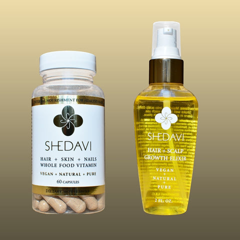 Incredible Hair Growth Shedavi Hair Vitamins Elixir Oil