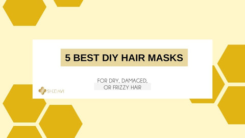 "Image of the blog banner that says ""5 Best DIY Hair Masks for Dry, Damaged, Frizzy Hair"""