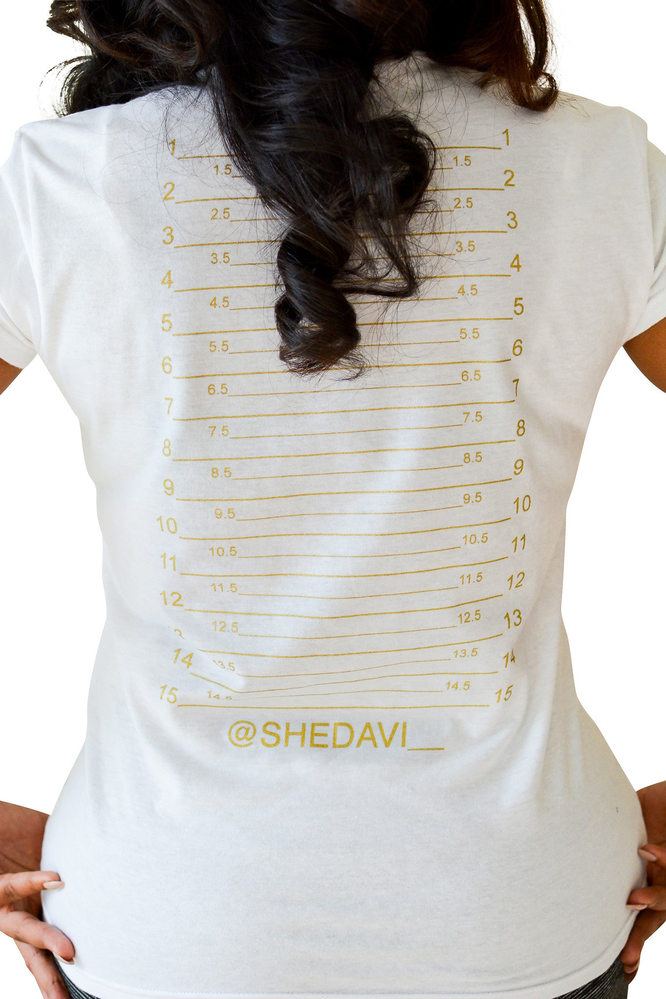Hair Length Check T-Shirt - Hair Growth Chart Marker – Shedavi