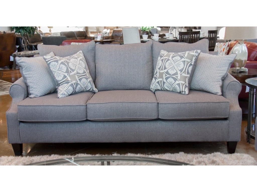 Elegant Grey Sofa And Loveseat With Accent Pillows Total
