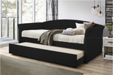 Black twin daybed with twin trundle