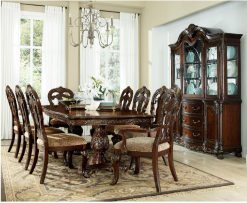 Deryn Park Collection - Dining Table w/ 8 Chairs