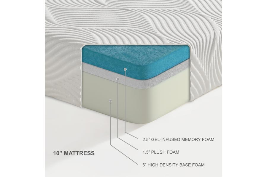"10"" Gel Infused Memory Foam Mattress"