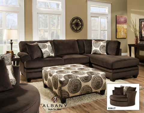 Albany Sectional - Chocolate