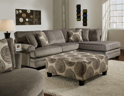 Albany Sectional - Smoke