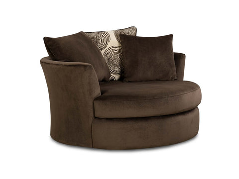 Albany Swivel Chair - Chocolate