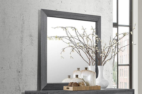 Rustic Grey Mirror