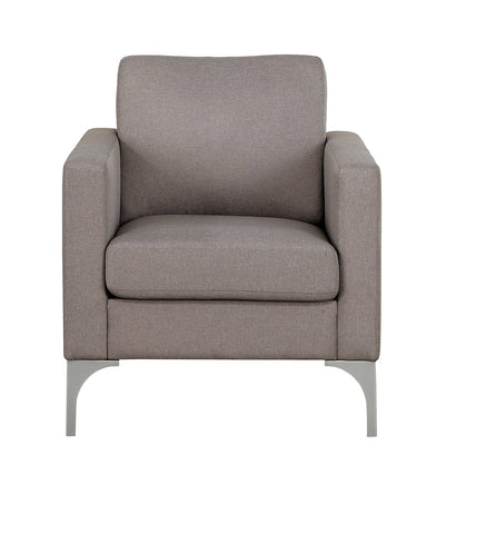 Brownish-grey fabric chair