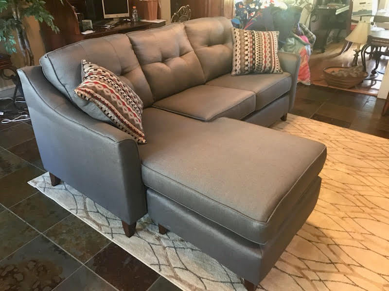Heavy Duty Reversible Grey Sectional - Capri collection
