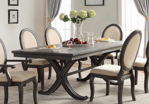 Modern traditional 7 piece formal dining set