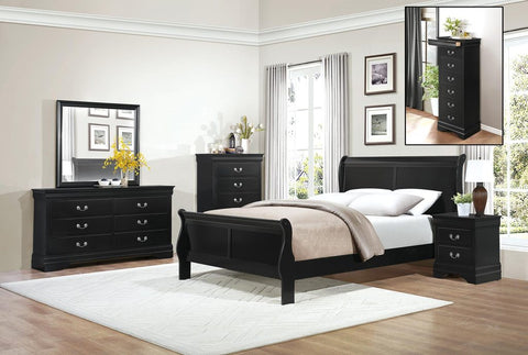 Black Sleigh Bedroom Set
