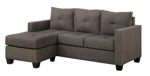 Brownish grey reversible sectional