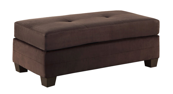 Chocolate brown ottoman