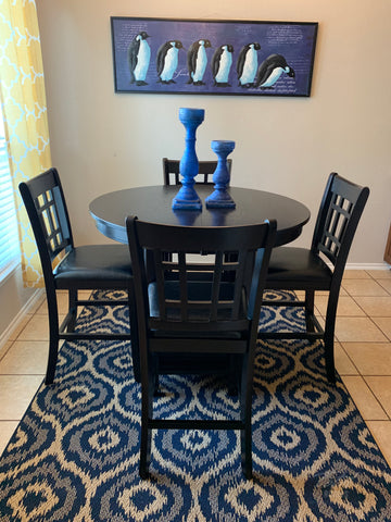 5 piece cherry counter height dining set