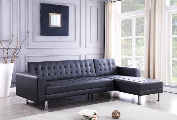 Bobby - 2pc Sectional Black