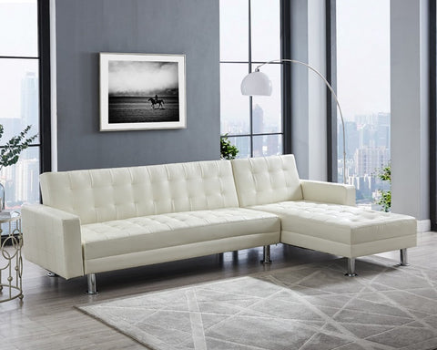 Bobby - 2pc Sectional White