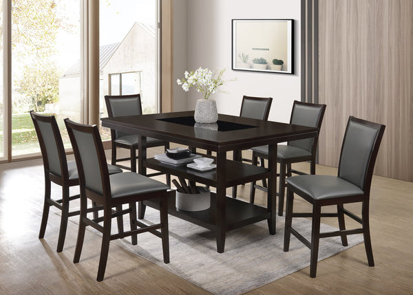 Counter Height Table and 6 Chairs Set