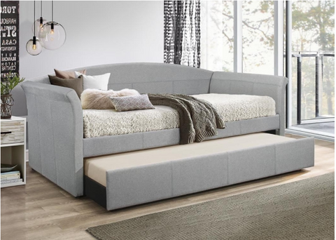 Grey twin daybed with twin trundle
