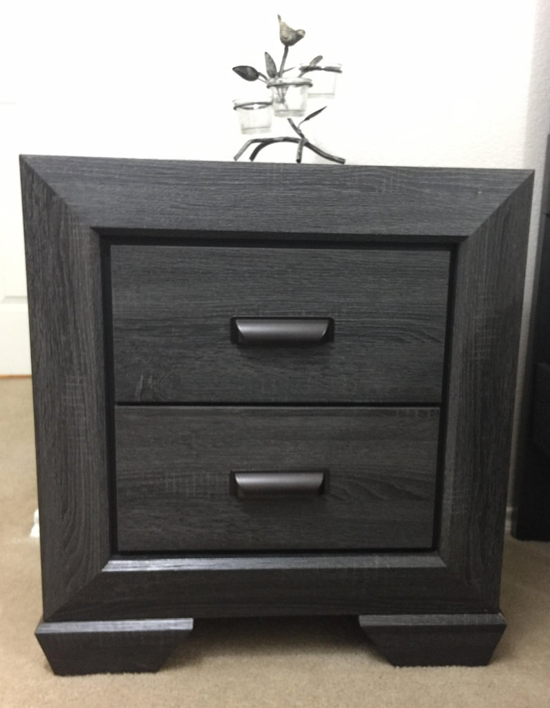 Rustic Grey Nightstand
