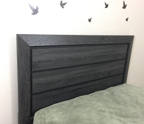 Rustic Grey Bed