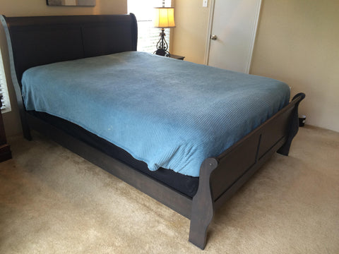 Stained Grey Bed