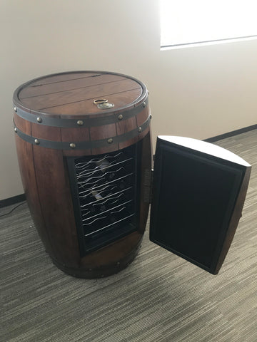Cherry barrel with temperature controlled wine storage