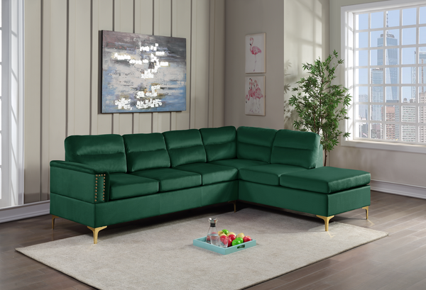 Vogue Green Sectional