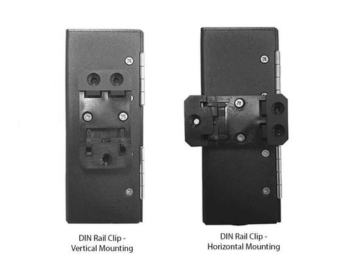 Horizontal and Vertical Mounting of DIN Rail Clip for DPPY12 BK Series