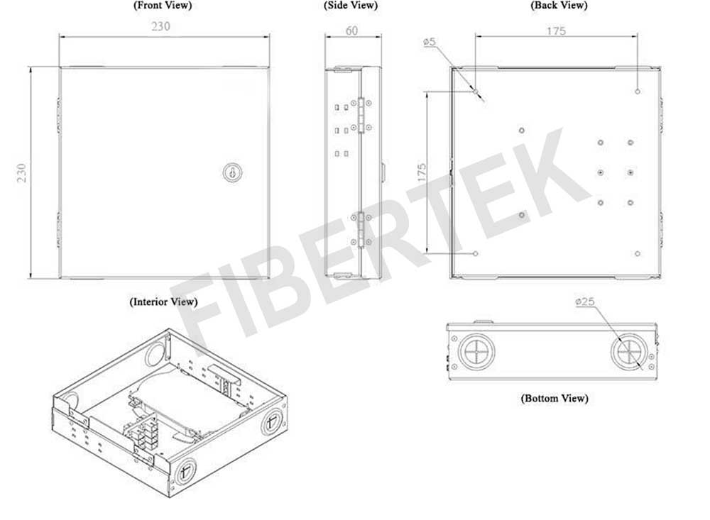 Basic construction diagram of FTBT08 Series Indoor Wall Mount Panel