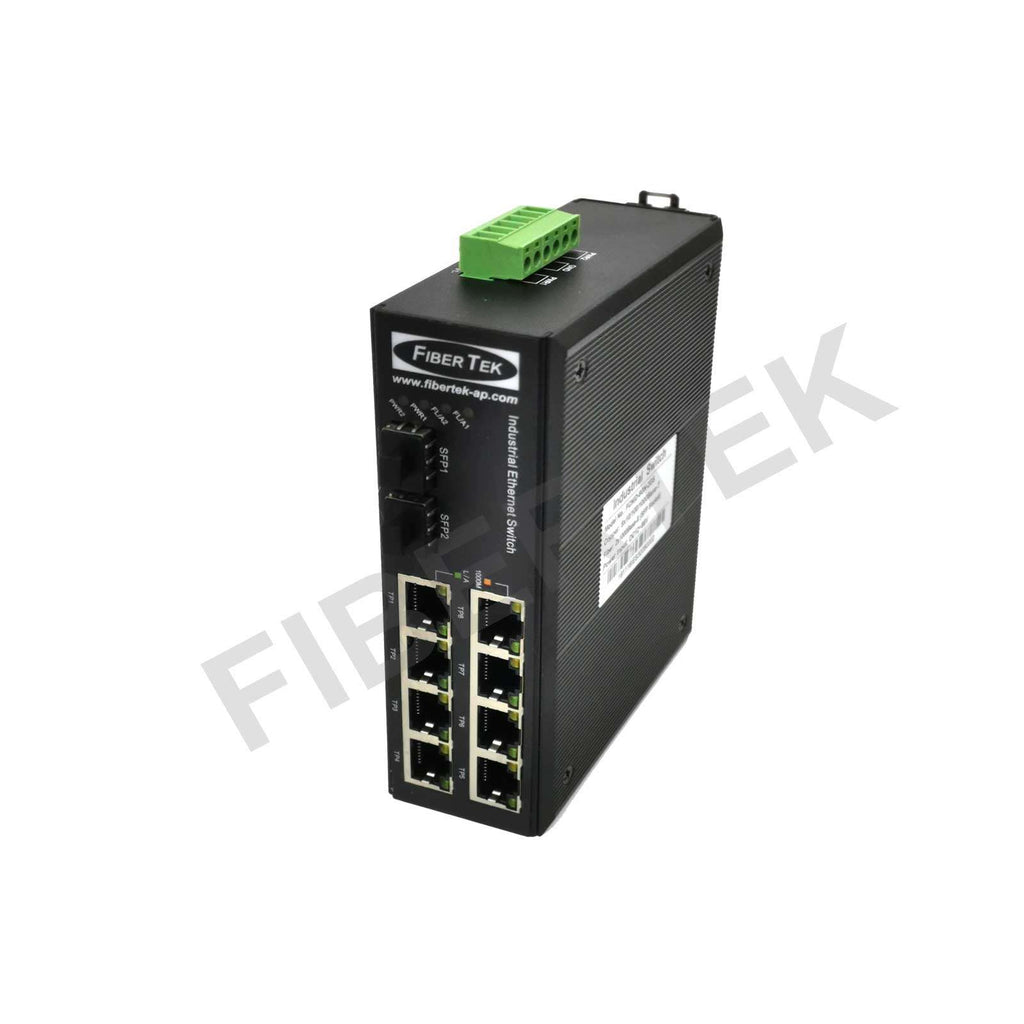 FCNID-8GN-2GS Industrial Ethernet Media Converter Side View