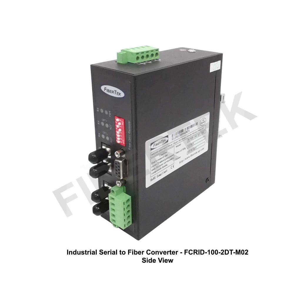 Industrial Serial to Fiber Converter FCRID-100-2DT-M02 Series