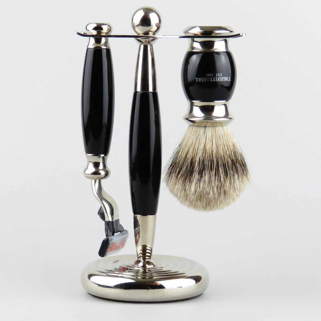 Truefit & Hill Mach 3 Razor & Badger Brush Set Ebony