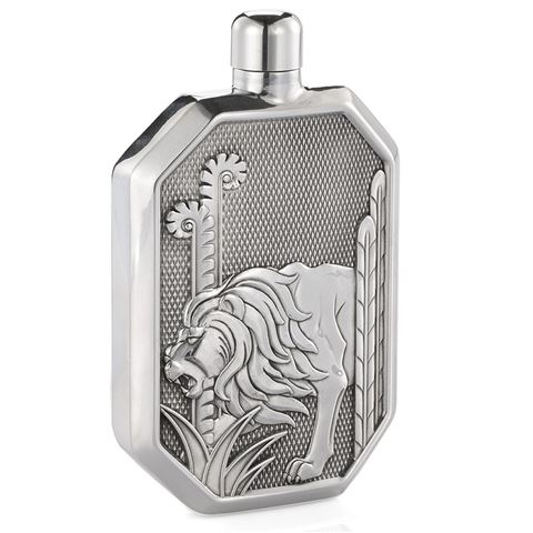 Lion Hip Flask